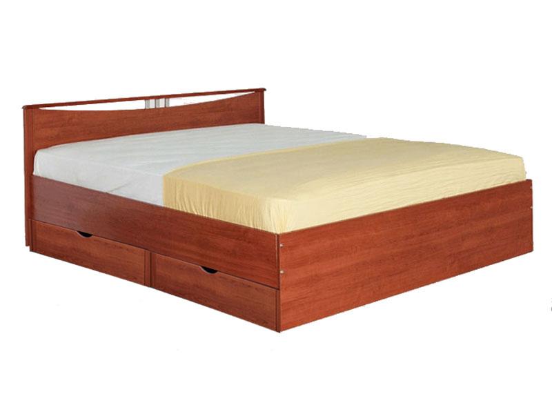 Кровать Мелисса с одной спинкой  с ящиками 1400