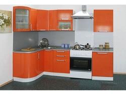 Кухня Престиж 1230х2085 с гнутыми фасадами, 2 категория