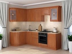 Кухня Классика угловая 1435х2000, 2 категория