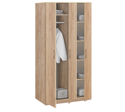 19.030 Шкаф для одежды без зеркала, Лофт, 1255х2380х540 мм.