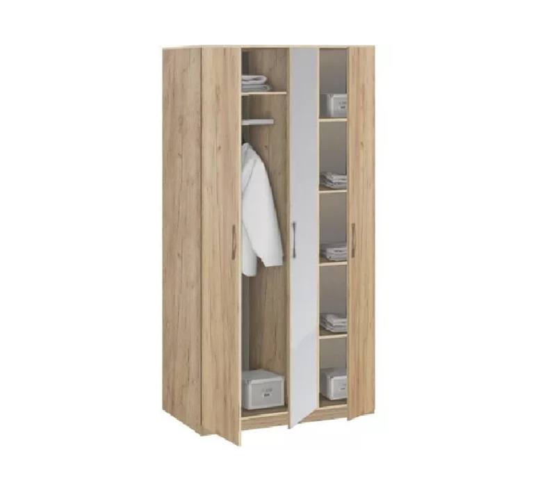 19.030Z Шкаф для одежды с зеркалом, Лофт, 1255х2380х540 мм.