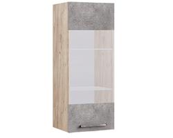 19.17 Шкаф-витрина настенный Лофт, 420х1020х380 мм