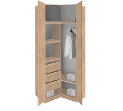 19.18 Шкаф угловой для одежды, Лофт, 960х2380х960 мм.
