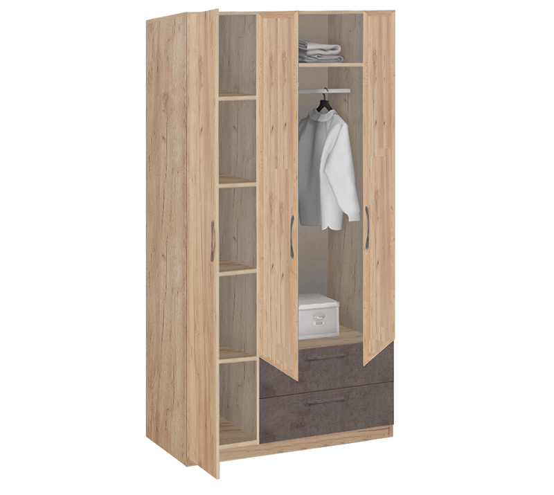 19.31 Шкаф для одежды без зеркала, Лофт, 1255х2380х540 мм.