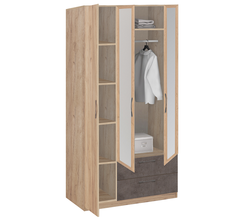 19.31Z Шкаф для одежды с зеркалом, Лофт, 1255х2380х540 мм.