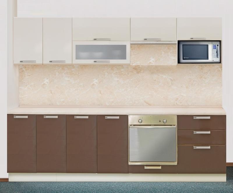Кухня Престиж со шкафом под микровалновую печь 2200, 2 категория