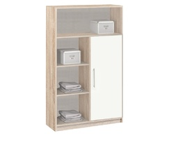 4.01 Шкаф-стеллаж, Вайт 842х1365х302 мм, Боровичи мебель.