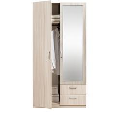 5.13 Z Шкаф 2-х дверный с ящиками с зеркалом 1005х1995х540 серия Эко