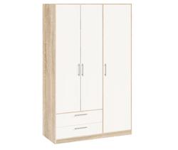 5.16 Шкаф для одежды, Вайт 1255х1995х522 мм, Боровичи мебель.