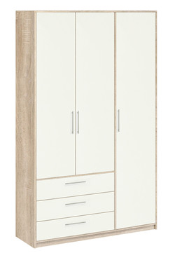 8.031 Шкаф для одежды, Вайт 1413х2380х522 мм, Боровичи мебель.