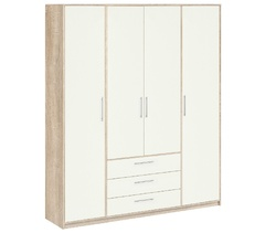 8.041 Шкаф для одежды (без зеркала), Вайт 1885х2380х522 мм, Боровичи мебель.