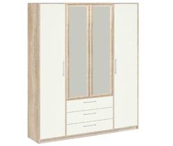 8.041Z Шкаф для одежды (с зеркалом), Вайт 1885х2380х522 мм, Боровичи мебель.