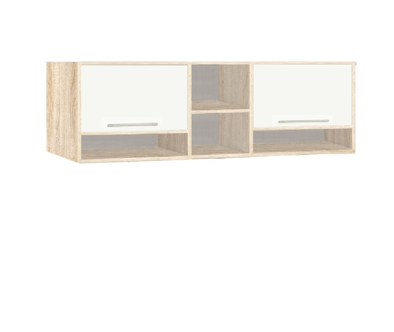 9.05 Шкаф настенный, Вайт 2100х580х270 мм, Боровичи мебель.