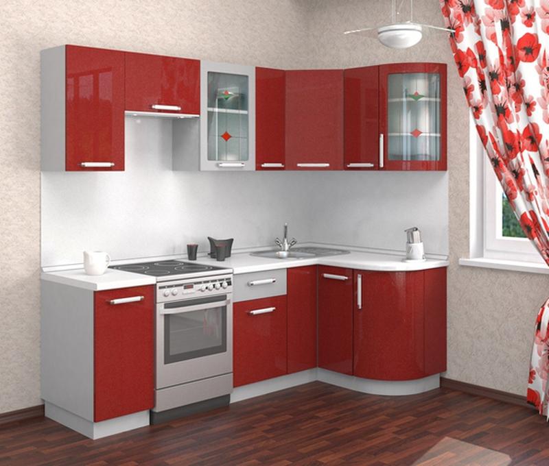 Кухня Классика угловая 1230х1785 с гнутыми фасадами h700, 2 категория