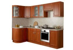Кухня Классика угловая 1230х2100 с гнутыми фасадами h700, 1 категория