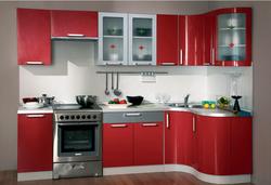 Кухня Классика угловая с гнутовогнутыми фасадами 1220х1785 h900, 2 категория