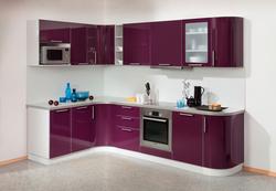 Кухня Классика угловая с гнутовогнутыми фасадами 2185х1650, 2 категория