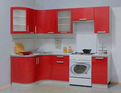 Кухня Классика угловая с гнутовогнутыми фасадами 1220х1785 h700, 2 категория