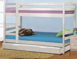 Кровать детская двухъярусная массив с дополнительным спальным местом