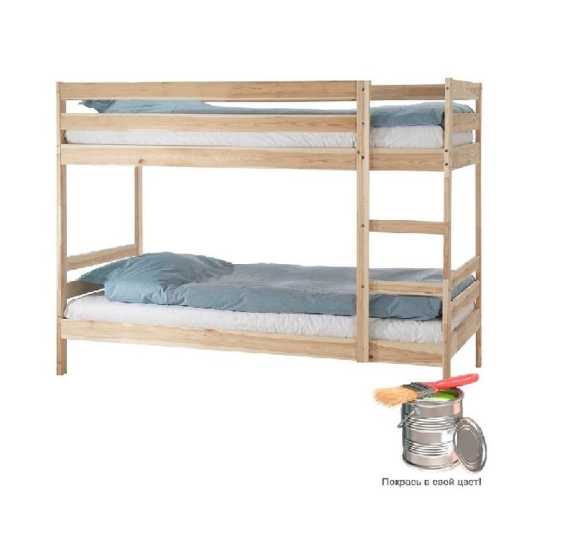 Кровать детская двухъярусная Пирус (под покраску)