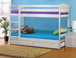 Кровать детская двухъярусная массив с ящиками