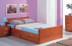 Кровать Мелисса с двумя спинками с ящиками 1600