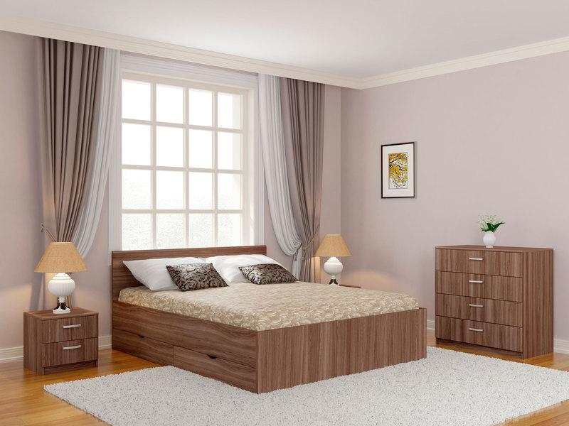 Кровать Мелисса Дрим с ящиками 1200