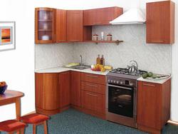 Кухня Престиж угловая с гнутыми фасадами 1230х1785, 1 категория