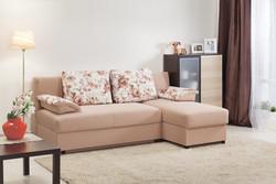 Угловой диван Лира 1600 без боковин (еврокнижка)