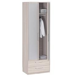 8.023 Z Шкаф 2-х дверный с ящиками и с зеркалом 840х2380х540 серия Лотос