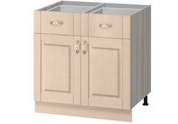 МН-73 Стол с 2-мя ящиками 800Х540Х850 без столешницы, Боровичи мебель