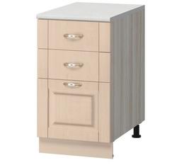 МН-13 Стол с 3-мя ящиками 600х600х840 без столешницы, Боровичи мебель