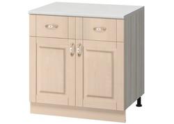 МН-73 Стол с 2-мя ящиками 800Х600Х855 без столешницы, Боровичи мебель