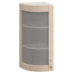 МВ-29В левый Торцевой шкаф-витрина 325х320х700, Боровичи мебель