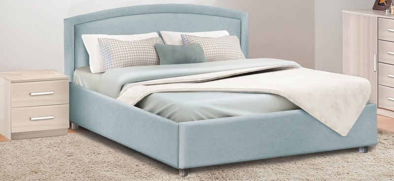Кровать с подъемным механизмом Овальная спинка 1400