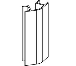 Соединение 135 L=100мм для цокольного профиля
