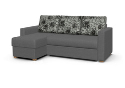 Угловой диван Виктория 2-1 comfort с ящиком 1200 (дельфин)