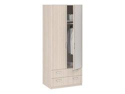 8.023 Шкаф 2-х дверный с ящиками и зеркалом серия Лотос