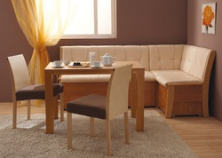 """Кухонный угловой диван Этюд со спальным местом в стежке """"Релакс"""""""