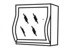 МВ-57В Шкаф-витрина 800х320х700 (мех.Блюм), Боровичи мебель