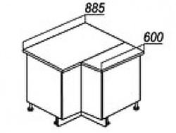 СН-79 правый Стол угловой 885/890х600х840 ( массив ), Боровичи мебель