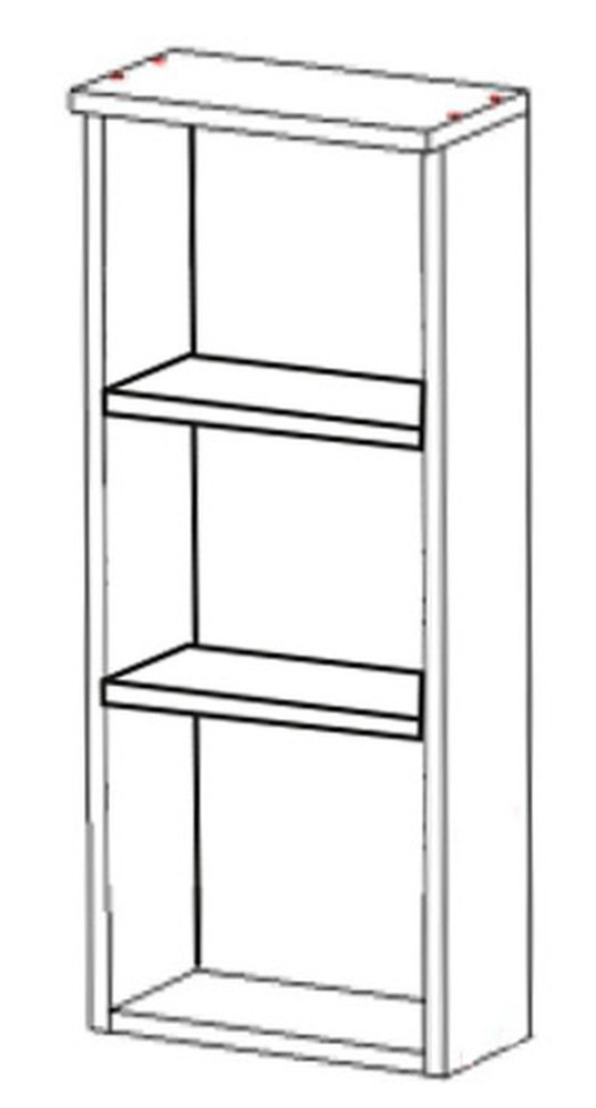 Шкаф навесной НВ-01 Идеал, Некст 300х150х700 мм, Боровичи мебель