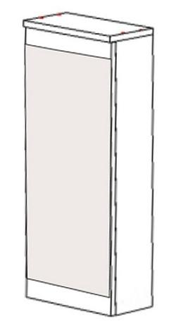 Шкаф навесной НВ-02 Идеал, Некст 300х150х700 мм, Боровичи мебель