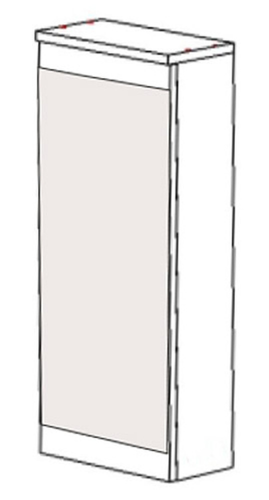 Шкаф навесной НВ-02 Идеал, Некст 400х150х700 мм, Боровичи мебель