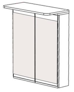 Шкаф навесной НВ-03 Идеал, Некст  1000х150х700 мм, Боровичи мебель