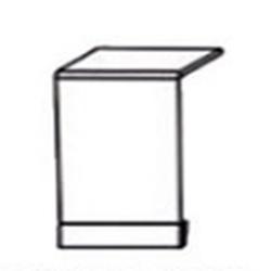 СН-98 Декоративная панель 600х700 для посудомоечной машины, столешница 600х600 ( массив ), Боровичи мебель