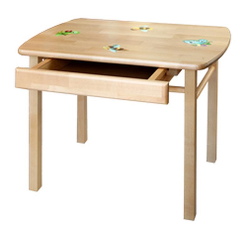 Стол детский прямоугольный с ящиком