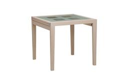Стол обеденный раздвижной со стеклом 820x800