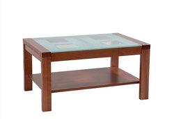Стол журнальный массив со стеклом, Боровичи мебель