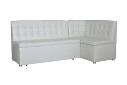 Кухонный угловой диван Уют со спальным местом со стежкой Релакс , Правый